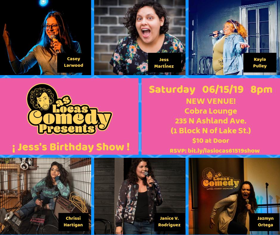 Las Locas Comedy June 2019 Show Poster