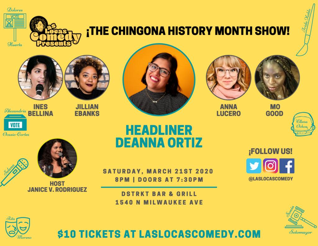 Las Locas Comedy Chingona History Month March 2020